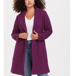 TORRID cozy brushed hacci a-line winter coat!